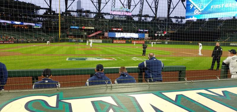 Seating view for T-mobile park Section 124 Row 5 Seat 1