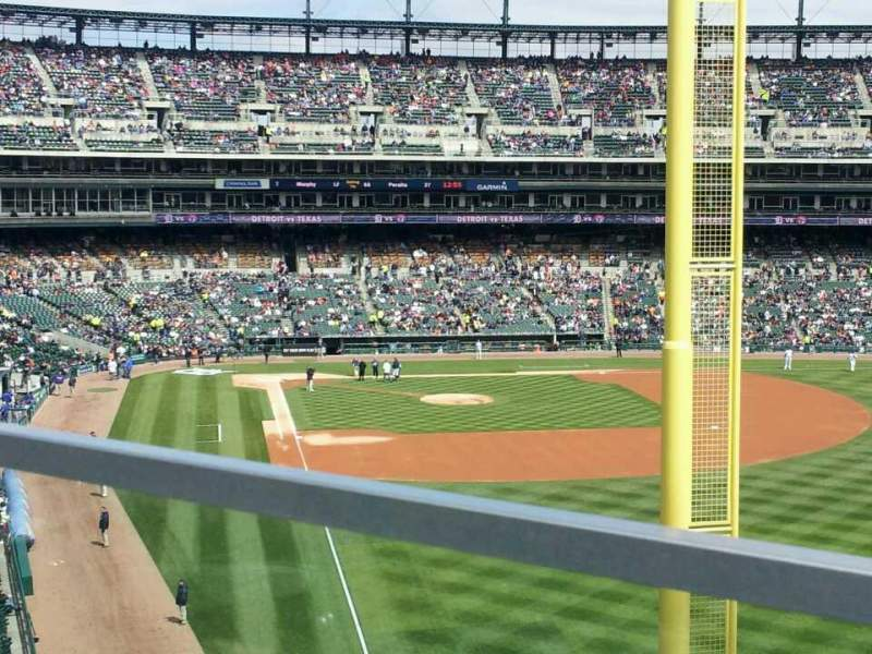 Seating view for Comerica Park Section 210 Row A Seat 1