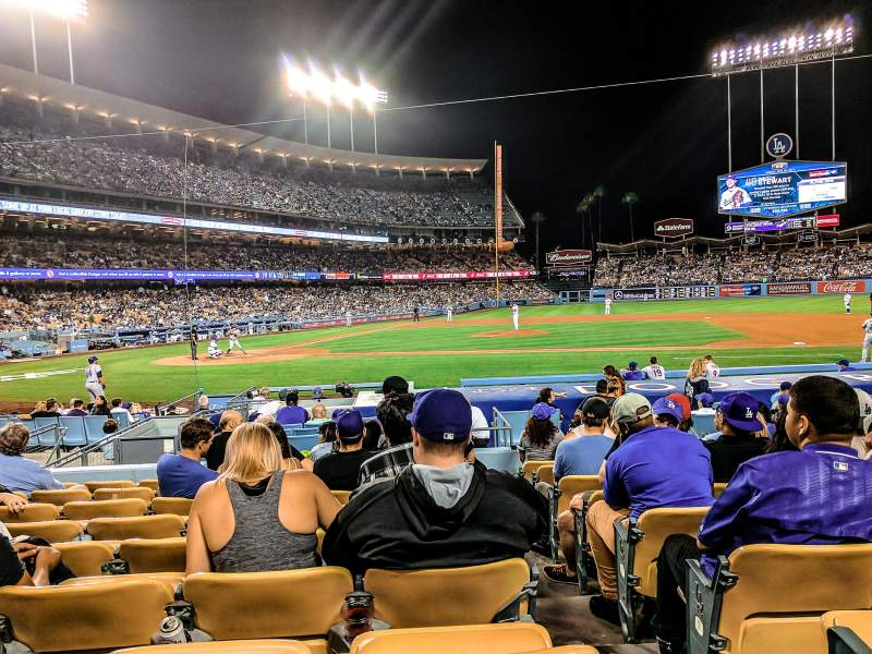 Seating view for Dodger Stadium Section 16FD Row J Seat 8