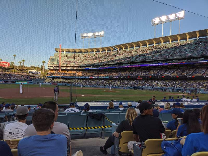 Seating view for Dodger Stadium Section 27FD Row E Seat 1
