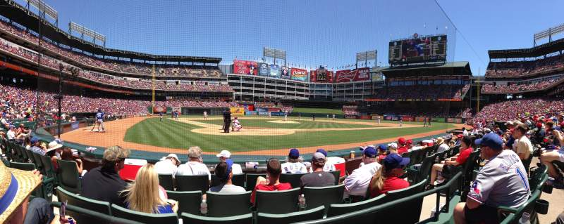 Seating view for Globe Life Park in Arlington Section 28 Row 2 Seat 4