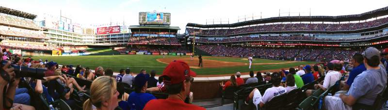 Seating view for Globe Life Park in Arlington Section 16 Row 3 Seat 18