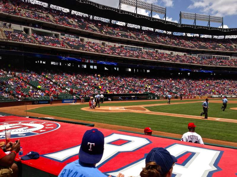 Seating view for Globe Life Park in Arlington Section 33 Row 6 Seat 4
