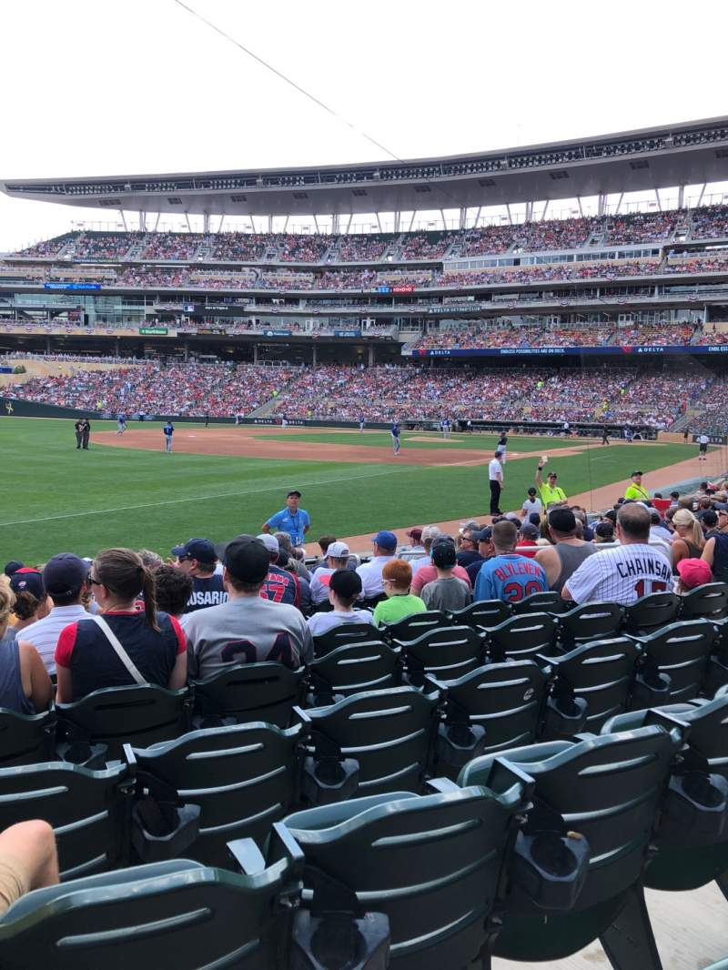 Seating view for Target Field Section 125 Row 12 Seat 10