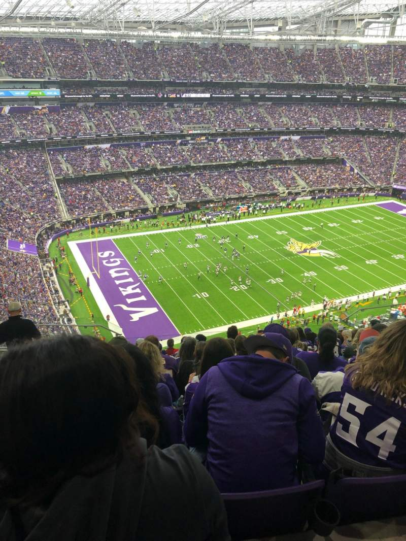 Seating view for U.S. Bank Stadium Section 317 Row 13 Seat 15