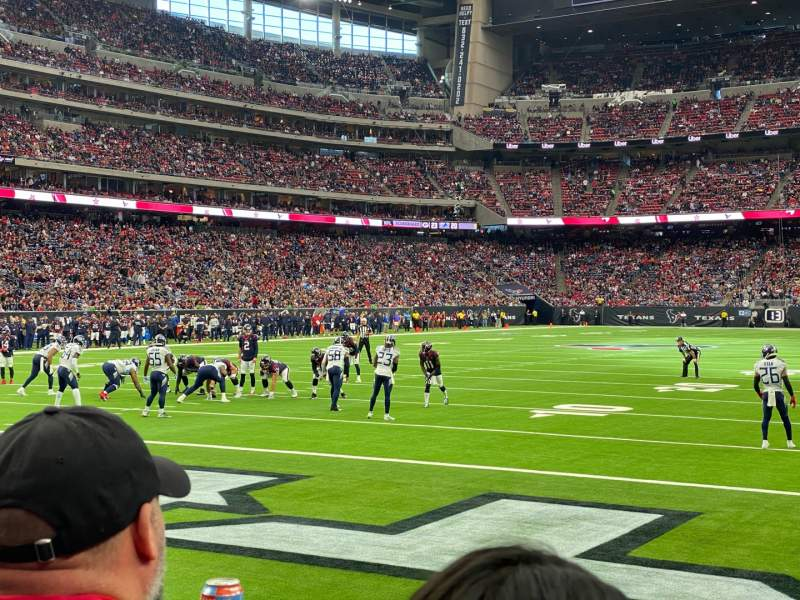 Seating view for NRG Stadium Section 135 Row B Seat 3
