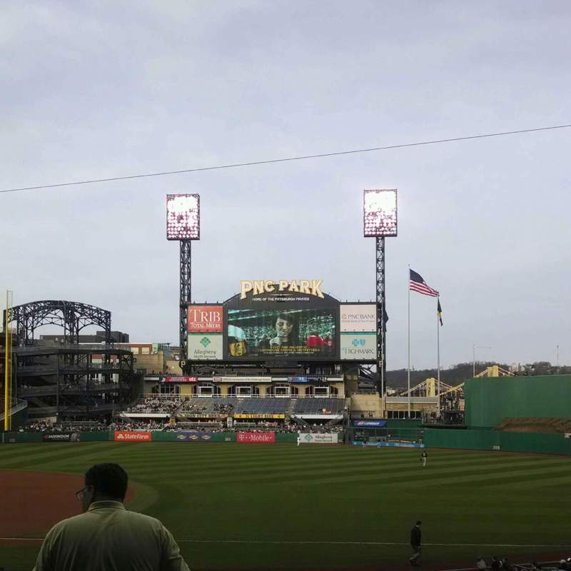 Seating view for PNC Park Section 107 Row n Seat 15