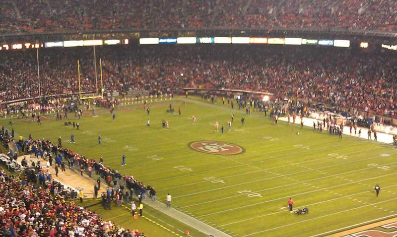 Seating view for Candlestick Park Section UR 62 Row 12 Seat 4