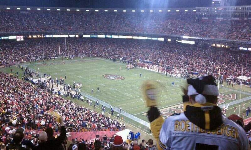 Seating view for Candlestick Park Section UR62 Row 12 Seat 7