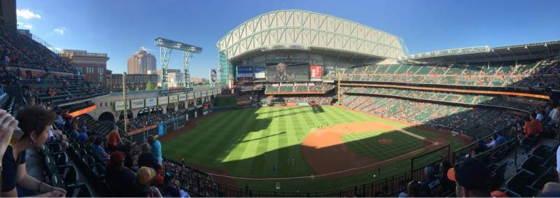 Seating view for Minute Maid Park Section 310 Row 5 Seat 21