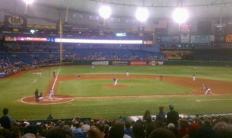 Seating view for Tropicana Field Section 110 Row gg Seat 4