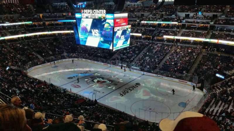 Pepsi Center, section: 374, row: 10, seat: 2