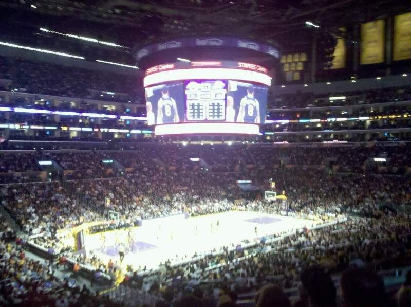 Seating view for Staples Center Section 117 Row 10 Seat 4