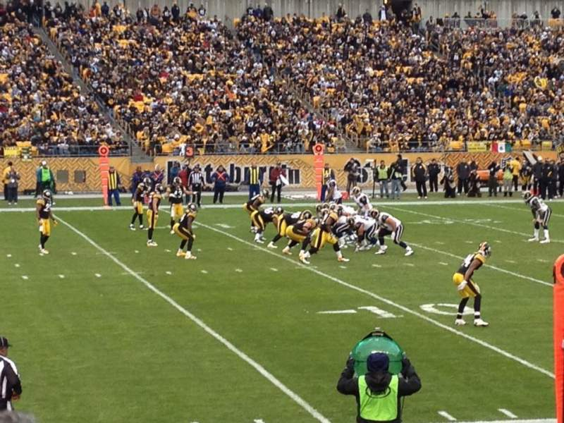 Seating view for Heinz Field Section 107 Row k