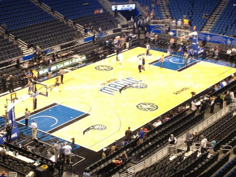 Seating view for Amway Center Section 230 Row 1 Seat 1