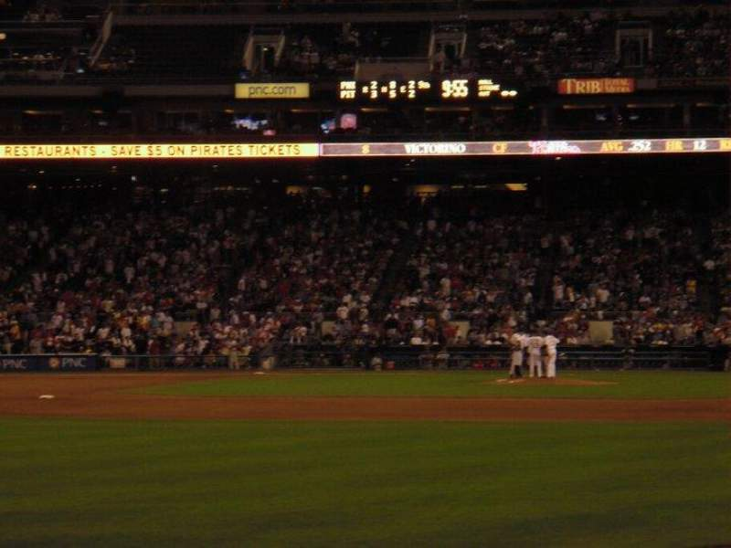 Seating view for PNC Park Section 133 Row 4