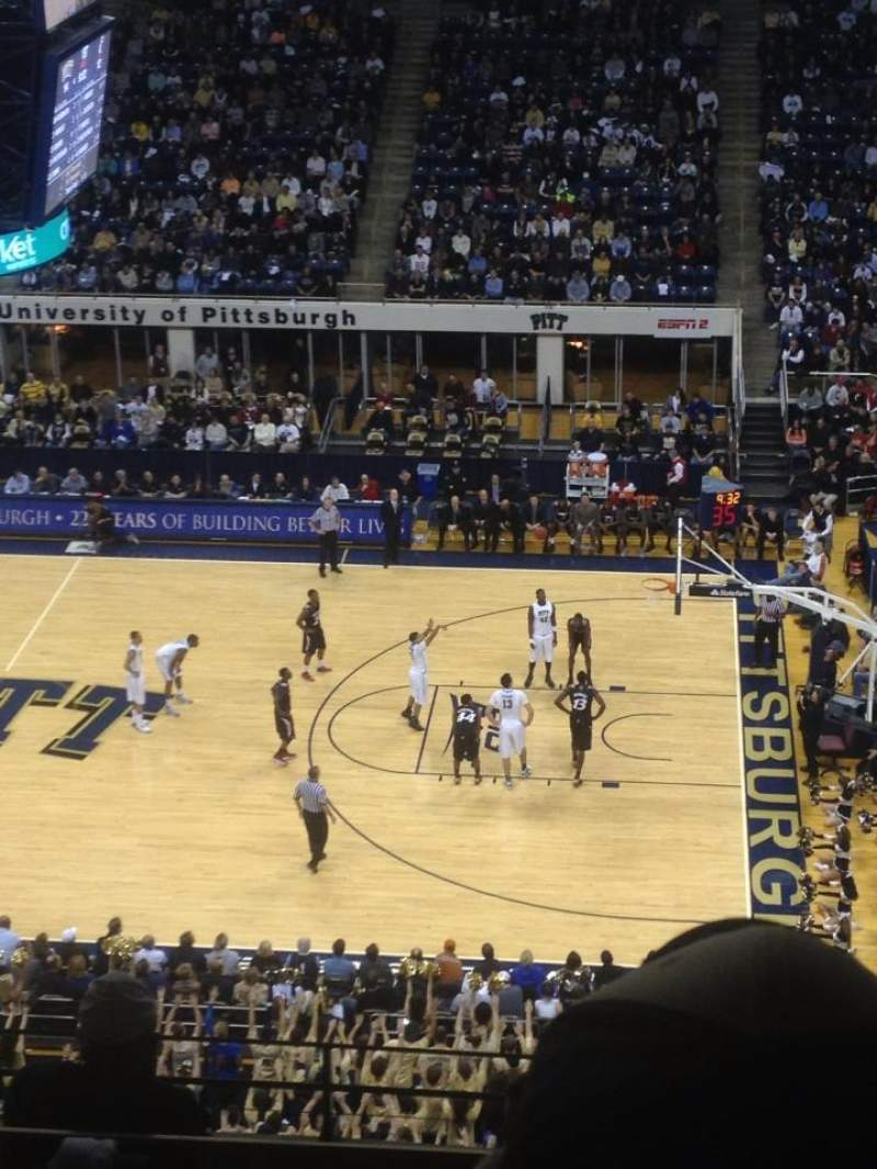 Seating view for Petersen Events Center Section 207 Row F Seat 9