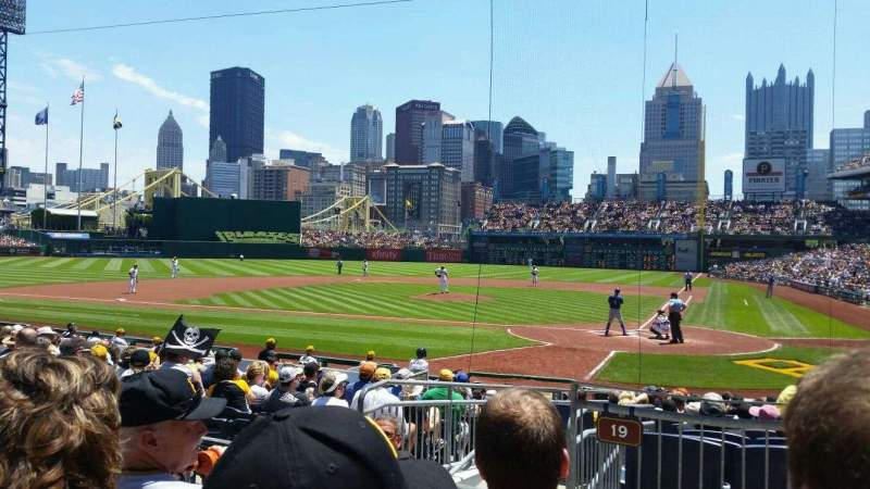 Seating view for PNC Park Section 119 Row C Seat 14