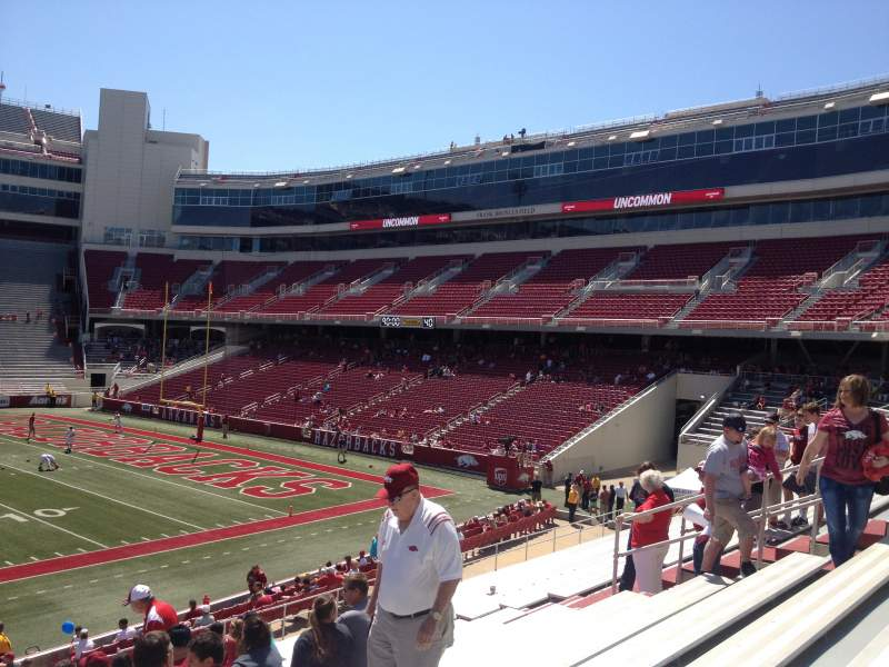 Seating view for Razorback Stadium Section 103 Row 22 Seat 20