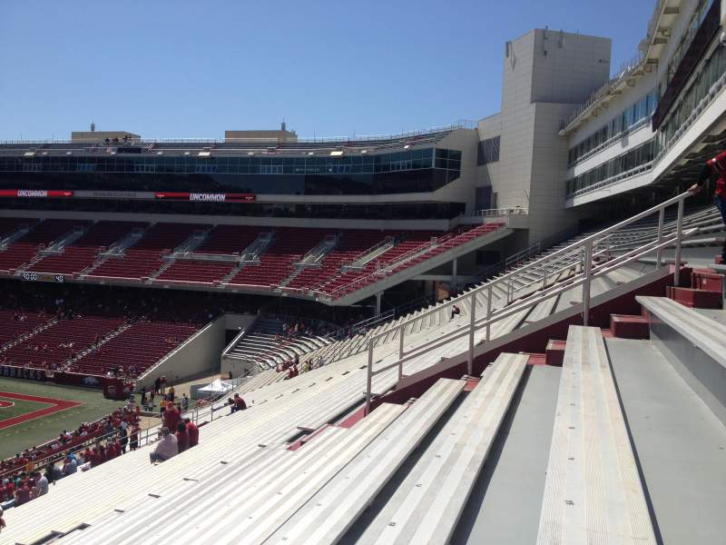 Seating view for Razorback Stadium Section 104 Row 44 Seat 20