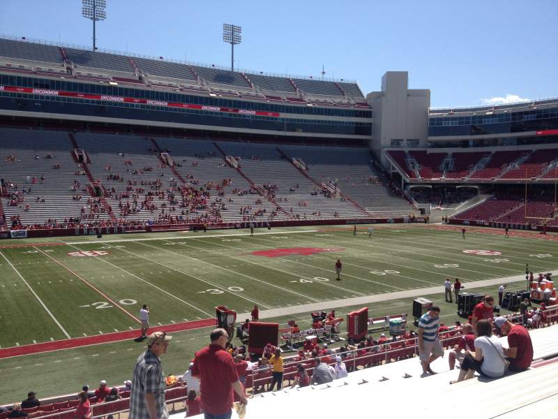 Seating view for Razorback Stadium Section 106 Row 22 Seat 20