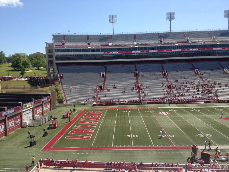 Seating view for Razorback Stadium Section 106 Row 44 Seat 20