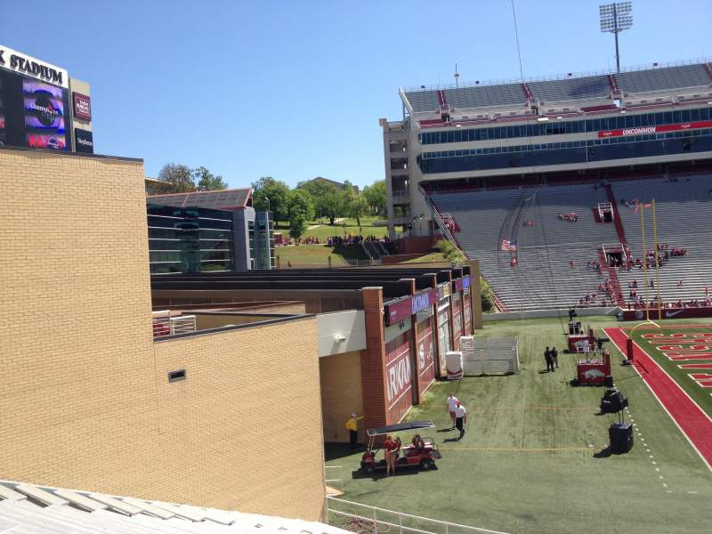 Seating view for Razorback Stadium Section 107 Row 22 Seat 20