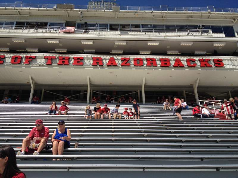 Seating view for Razorback Stadium Section 104 Row 22 Seat 20