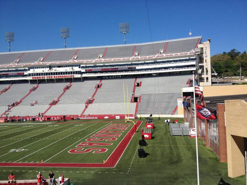 Seating view for Razorback Stadium Section 111 Row 22 Seat 20