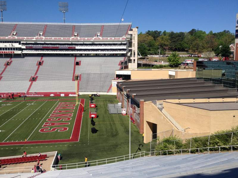 Seating view for Razorback Stadium Section 111 Row 44 Seat 20