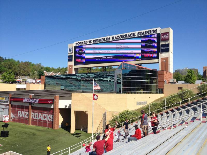 Seating view for Razorback Stadium Section 112 Row 22 Seat 20