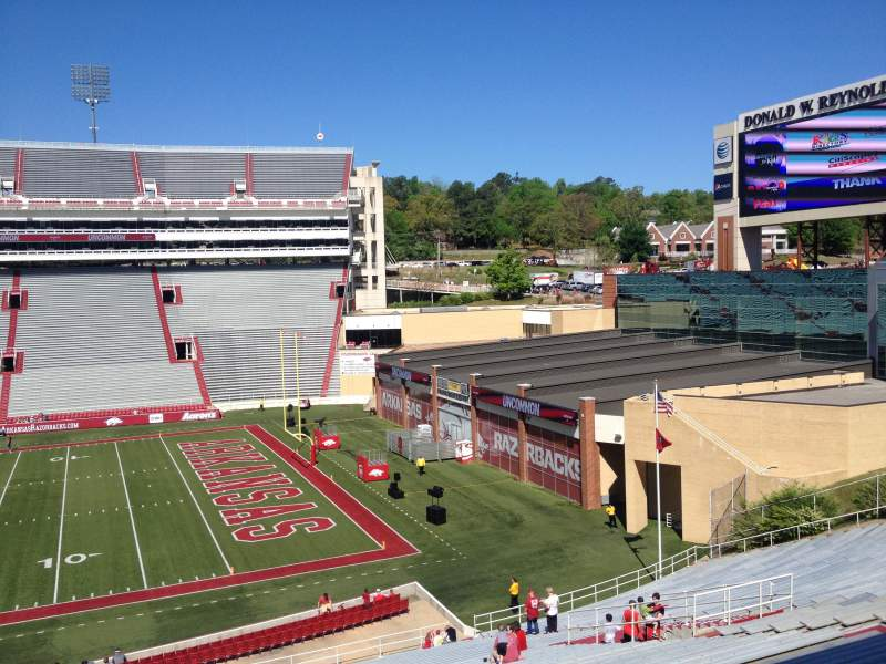 Seating view for Razorback Stadium Section 112 Row 44 Seat 20