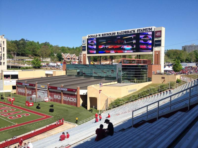Seating view for Razorback Stadium Section 113 Row 44 Seat 20