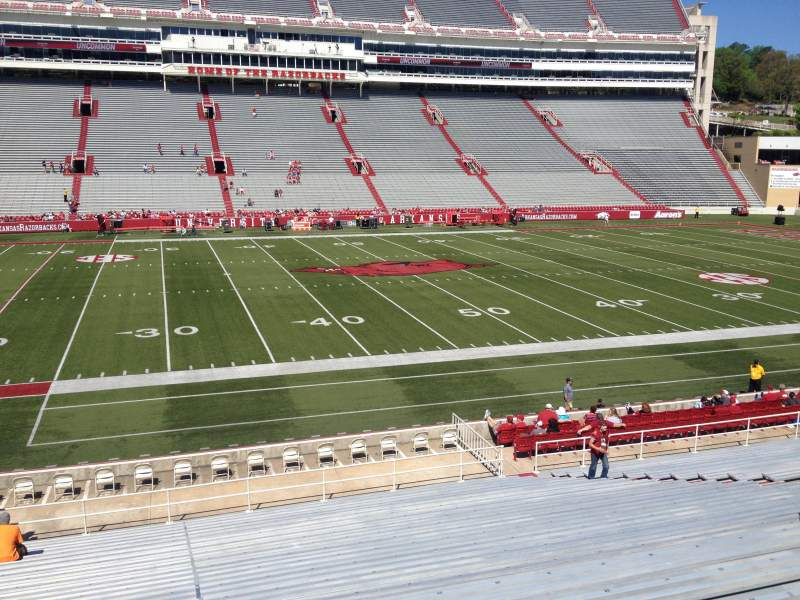 Seating view for Razorback Stadium Section 115 Row 22 Seat 20