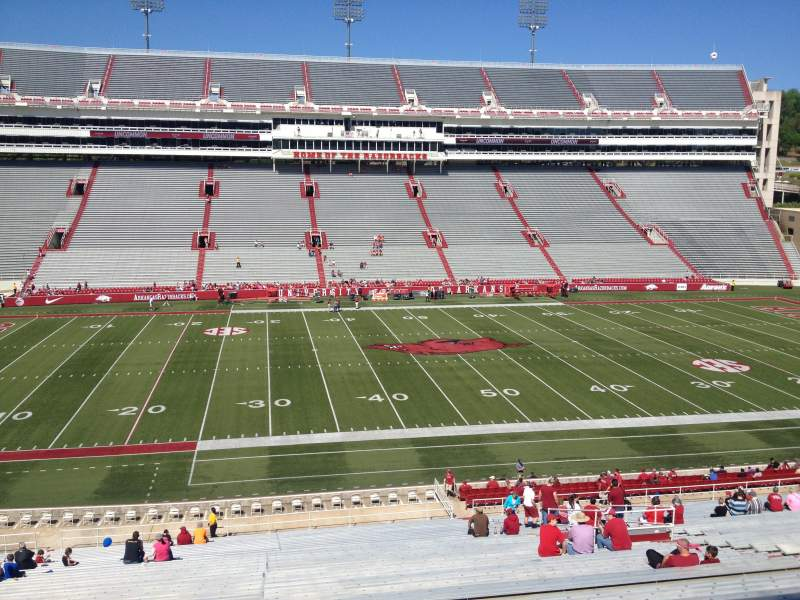 Seating view for Razorback Stadium Section 115 Row 44 Seat 20