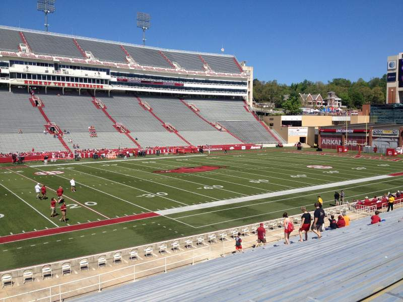 Seating view for Razorback Stadium Section 116 Row 22 Seat 20