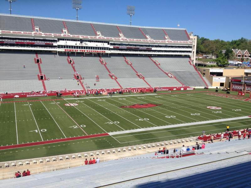 Seating view for Razorback Stadium Section 116 Row 44 Seat 20