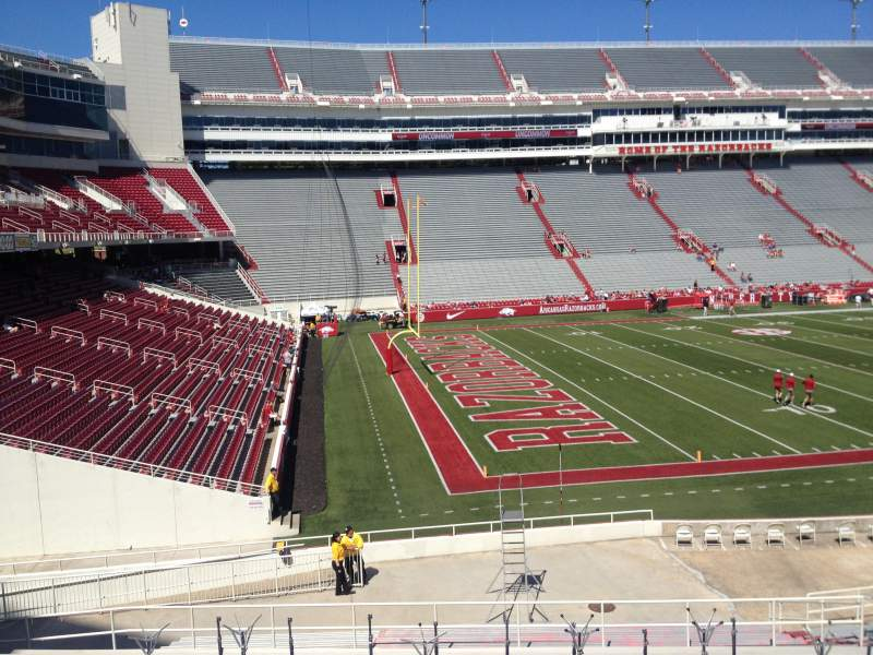 Seating view for Razorback Stadium Section 117 Row 22 Seat 20
