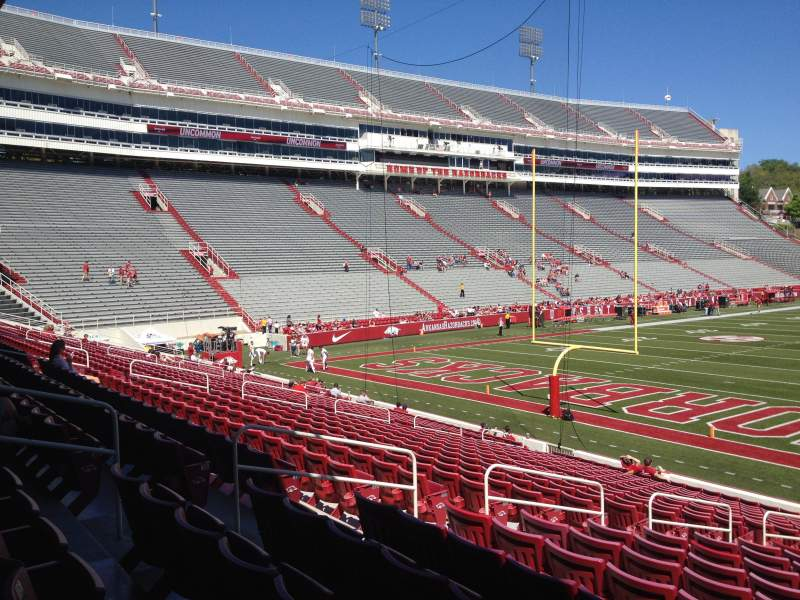 Seating view for Razorback Stadium Section 121 Row 22 Seat 10