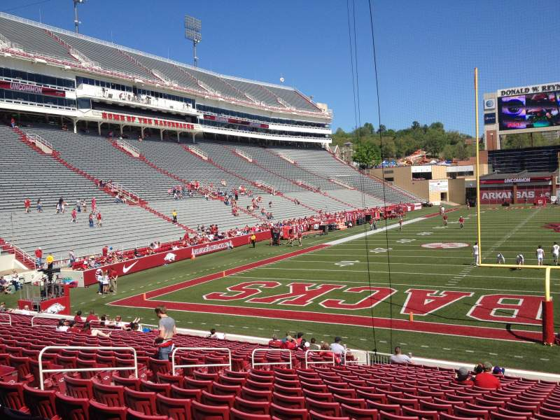 Seating view for Razorback Stadium Section 123 Row 22 Seat 10