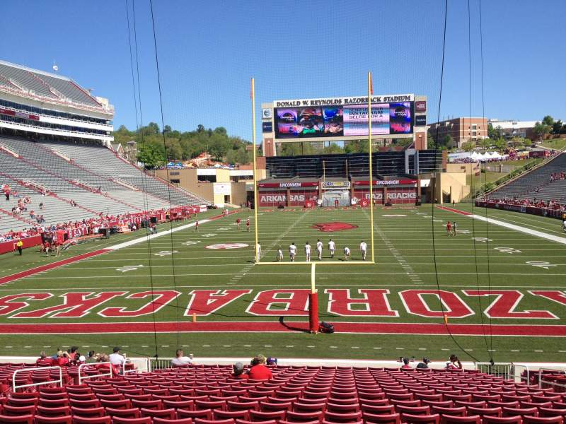 Seating view for Razorback Stadium Section 123 Row 22 Seat 20