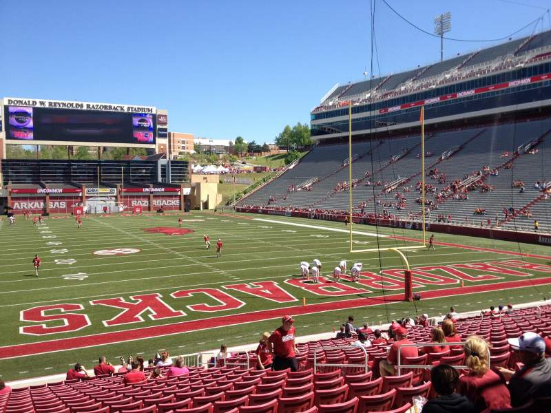 Seating view for Razorback Stadium Section 125 Row 22 Seat 10