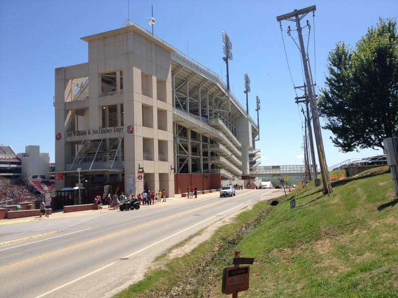 Seating view for Razorback Stadium Section West Side