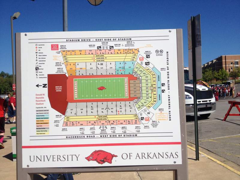 Razorback Stadium  Interactive Seating Chart