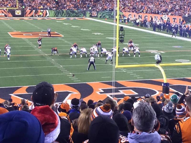 Seating view for Paul Brown Stadium Section 156 Row 23