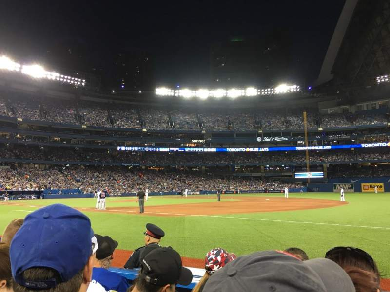 Seating view for Rogers Centre Section 114R Row 4 Seat 9