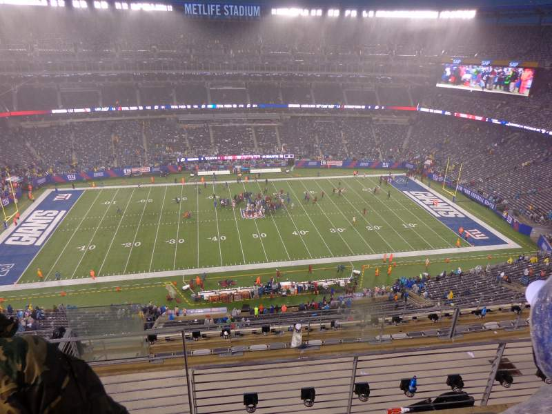 Seating view for MetLife Stadium Section 340 Row 21 Seat 9