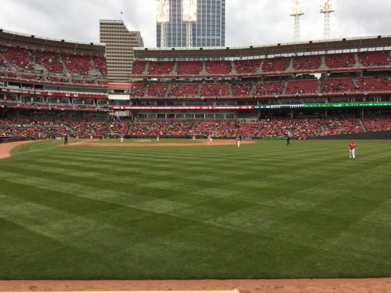 Seating view for Great American Ball Park Section 140 Row A Seat 1