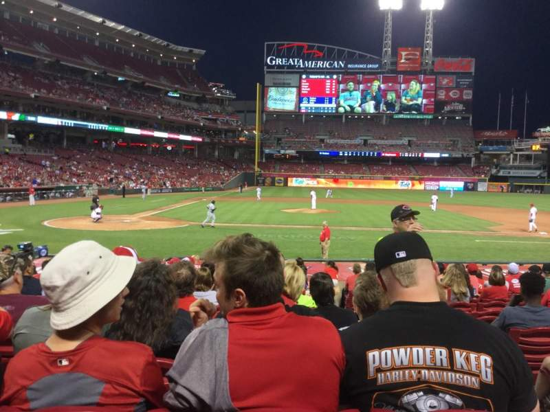 Seating view for Great American Ball Park Section 128 Row R Seat 1
