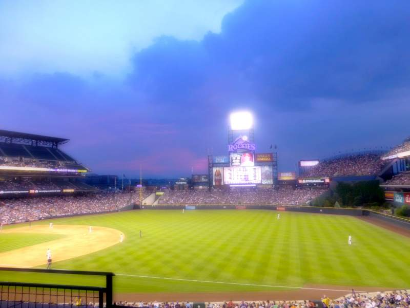 Seating view for Coors Field Section 216 Row 3 Seat 15